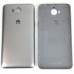 Корпусные детали - Задняя крышка для Huawei Y5 2017 черная, 0