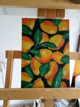 """Картины, постеры, гобелены, панно - Картина """"Лимоны"""" акрил, 0"""