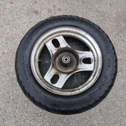 Шины, диски и комплектующие - Колесо переднее скутера Honda Dio / Tact Dunlop 3.00 10, 0