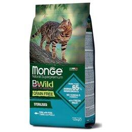 Корма  - Сухой корм Monge BWild Cat Sterilised Tuna Peas…, 0