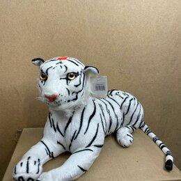 Мягкие игрушки - Большой белый тигр мягкая игрушка  35 см, 0