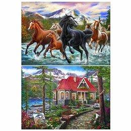 Рукоделие, поделки и сопутствующие товары - Алмазная мозаика Рыжий кот «Красивый дом в лесу» 40*50см, 0