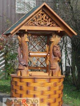 Садовые фигуры и цветочницы - Домик на колодец сова-сорока, 0