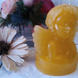 Декоративные свечи - Свеча Ангел - Жёлтая, 0