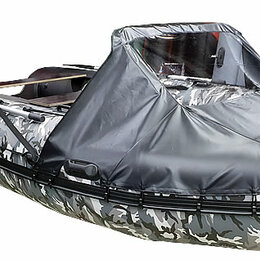 Аксессуары и комплектующие - Носовой тент для лодки Хантер 420 ПРО, 0