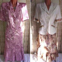 Костюмы - Два летних костюма (жакет+юбка), р.52, 0