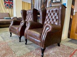 Кресла - Каминное кресло кожа , 0