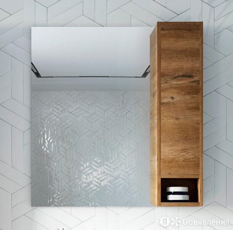 Зеркало-шкаф STWORKI Карлстад 75 R, дуб рустикальный по цене 9504₽ - Зеркала, фото 0