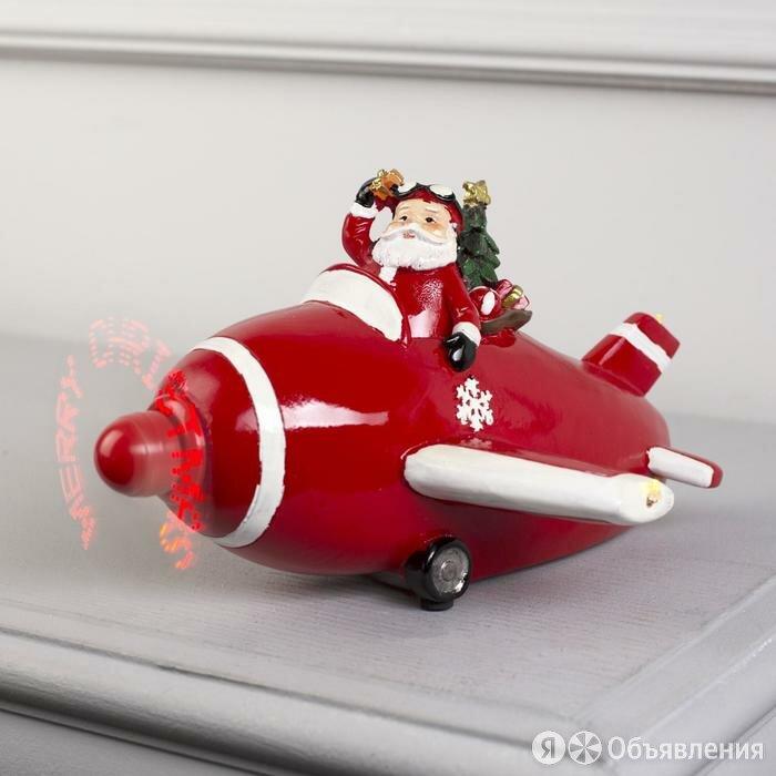 """Фигура световая """"Новогодний самолет с Дедом Морозом"""", 11 LED, крутящийся проп... по цене 2873₽ - Развивающие игрушки, фото 0"""