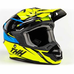 Мотоэкипировка - Шлем THH TX - 15 YEL/BLU LOTO (M), 0