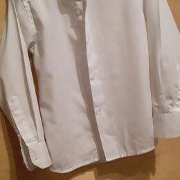 Рубашки - Белая рубашка с длинным рукавом на мальчика 6-9 лет, 0