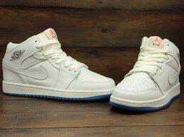 Кроссовки и кеды - Кроссовки Nike Air Jordan 1 white (В216) , 0