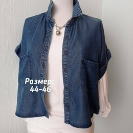 Блузки и кофточки - Блуза джинсовая zara, 0