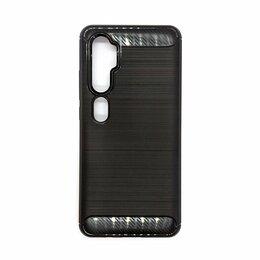 Чехлы - Противоударный чехол Mi Note 10 карбон черный, 0