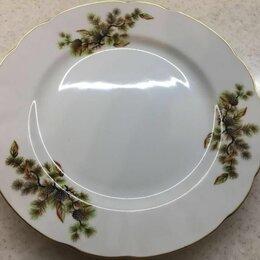 Тарелки - Тарелки 2шт. японский фарфор с еловой веткой, 0