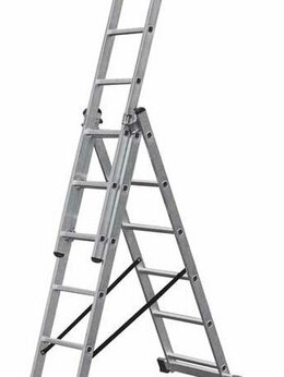 Лестницы и стремянки - Лестница алюминиевая 3-х секционная 3х6 (3,44м), 0