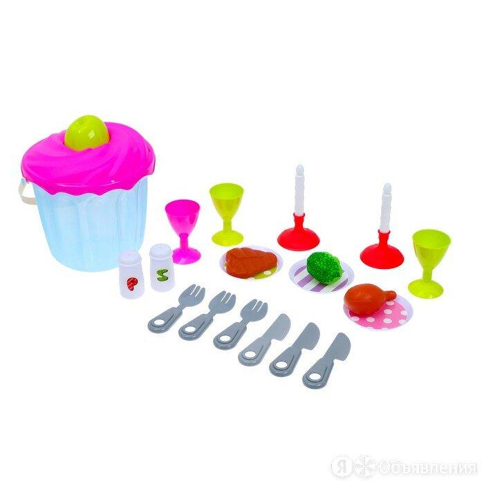 Набор посуды с продуктами питания «Ужин», 19 предметов по цене 658₽ - Мебель для кухни, фото 0