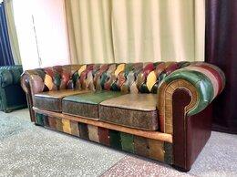 Диваны и кушетки - диван Честер в стиле печворк кожаный, 0