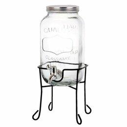 Ёмкости для хранения - Банка для лимонада с краником на металической  подставке, 0