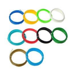 Расходные материалы для 3D печати - Пластик LuazON ABS-10, для 3Д ручки, 10 цветов по 10 метров, 0