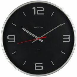 Часы настенные - Часы настенные TROYKA круглые серебристая рамка 30*30*5, 0