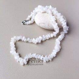 Колье и бусы - 💖 Бусы из лунного камня, натуральный адуляр, белое ожерелье, 0