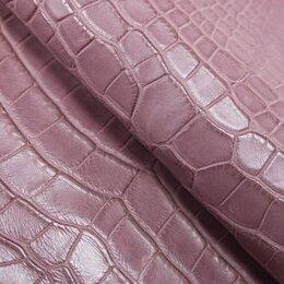 Рукоделие, поделки и сопутствующие товары - Целая шкура крокодила цвет нежно розовый, 0