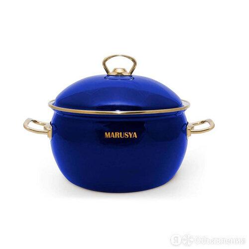 Кастрюля 2,2л эмалированная (синяя) эмал. кр. код.0116 Турция по цене 1570₽ - Кастрюли и ковши, фото 0