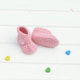 Обувь для малышей - Тапочки пинетки для девочки, 0