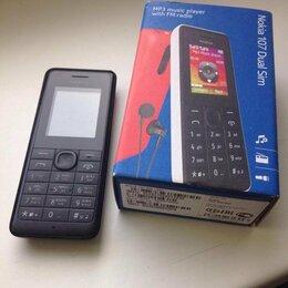 Мобильные телефоны - Кнопочный сотовый телефон Nokia Black 107 RM-961, 0