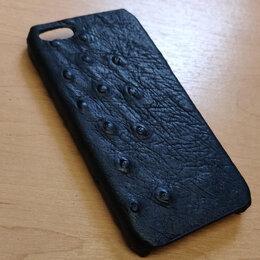 Чехлы - Чехол для телефонов iPhone 5, 5S, SE из кожи страуса, 0