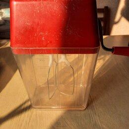 Миксеры - Ручной миксер кухонный с контейнером в рабочем состоянии, 0