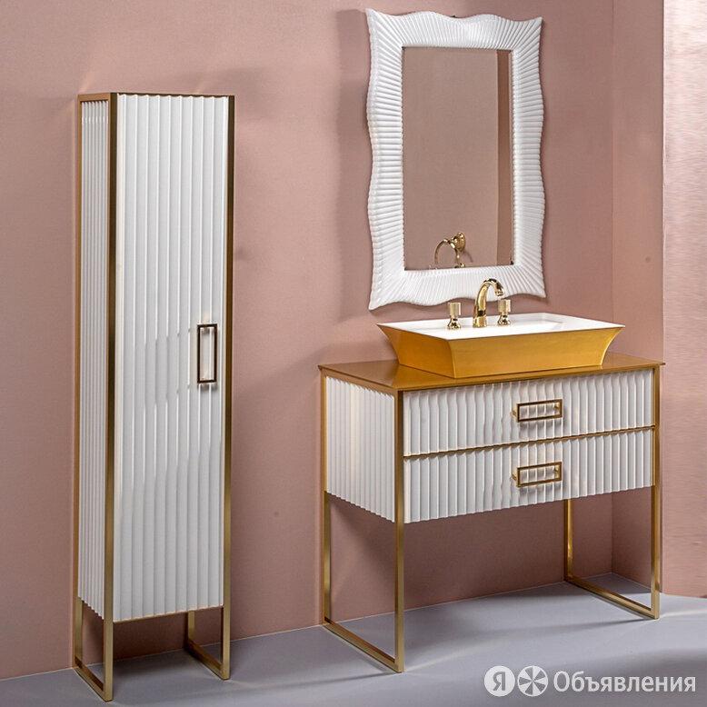 Мебель для ванной Armadi Art Monaco 100 с золотой столешницей белая, золото по цене 195116₽ - Готовые строения, фото 0