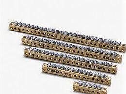 Товары для электромонтажа - Шина N, PE латунная, 0