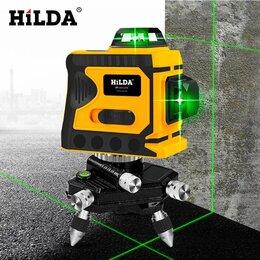 Измерительные инструменты и приборы - Зелёный лазерный уровень, 12 лучей, Hilda, 0