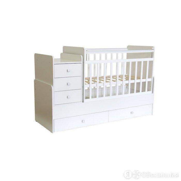 Кроватка-трансформер детская Фея 1100, цвет белый по цене 15364₽ - Кроватки, фото 0