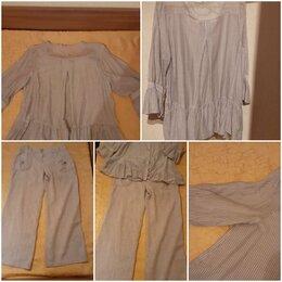 Костюмы - Комплект: брюки льняные и блузка, 0