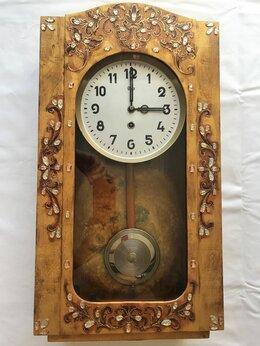 Часы настенные - Старинные настенные часы, инкрустированные…, 0