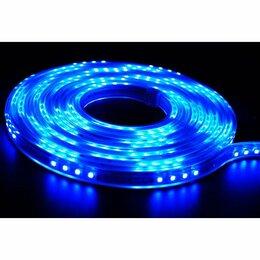 Интерьерная подсветка - Гибкая уличная LED лента с контроллером, 5 м, синий, 0