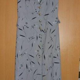 Жилеты - Платье-жилет на пуговицах и подкладке, с разрезами, винтаж, 0