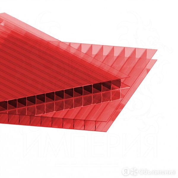 Сотовый поликарбонат SOTALIGHT Красный 4 мм (2,1*12 м) по цене 6983₽ - Поликарбонат, фото 0