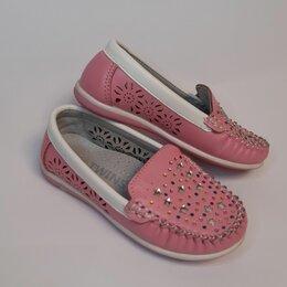 Балетки, туфли - Мокасины розовые для девочки, Twins, р.24, 0