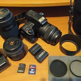 Фотоаппараты - Sony SLT-A37 с 3 объективами, 0