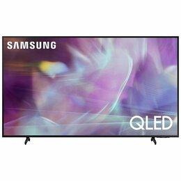 "Телевизоры - Телевизор QLED Samsung QE50Q60AAU 49.5"" (2021), черный, 0"