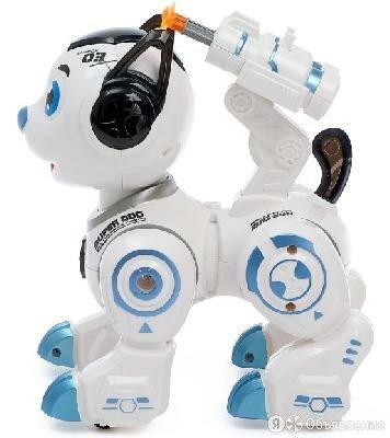 """Робот-собака """"Рокки"""", стреляет, свет, звук  4388179 по цене 1460₽ - Радиоуправляемые игрушки, фото 0"""