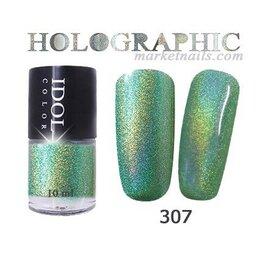 Лак для ногтей - IDOL, Лак для ногтей № 307 голографический 10 мл, 0