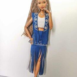 Аксессуары для кукол - Костюм из экокожи для куклы Барби., 0