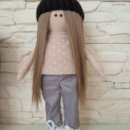 Мягкие игрушки - Текстильная кукла, 0
