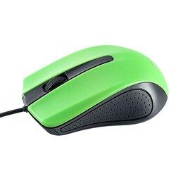 Коврики для мыши - Мышь проводная оптическая Perfeo RAINBOW, 3 кн, 1000 dpi, USB, чёрн-зел (PF-3..., 0