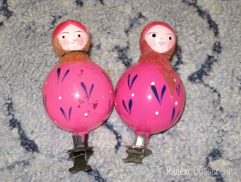 Советские новогодние игрушки неваляшка по цене 250₽ - Ёлочные украшения, фото 0